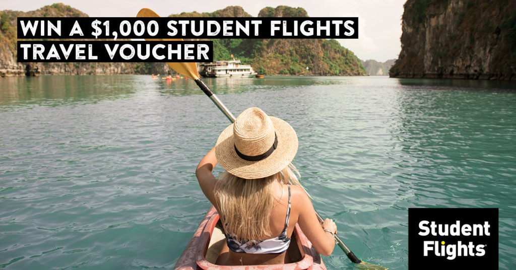 Win a $1,000 Student Flights Travel Voucher