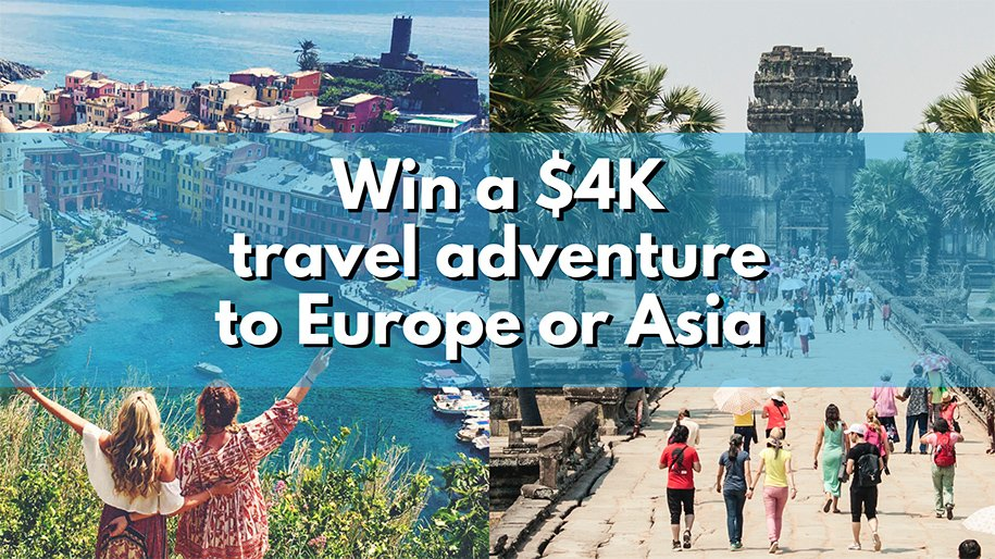 Install Travello To Win A $4,000 Travel Adventure To Europe Or Asia